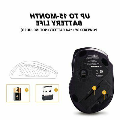 2400DPI Wireless Mouse USB Receiver for US