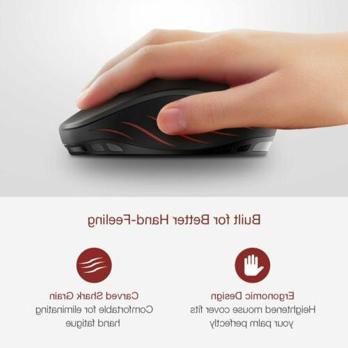 VicTsing 2400DPI Wireless 6 Buttons Optical for Laptop