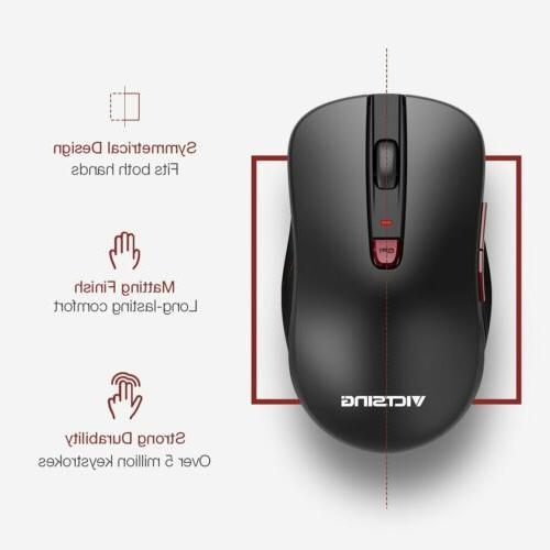 VicTsing Wireless Mouse 6 Buttons Mice for PC Mac Laptop