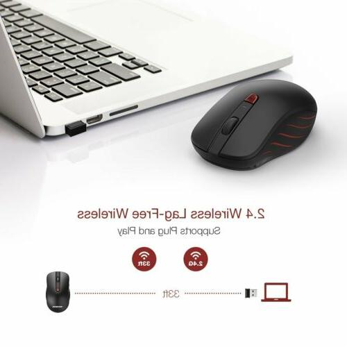 VicTsing 2400DPI Wireless 6 Buttons Mice for Laptop
