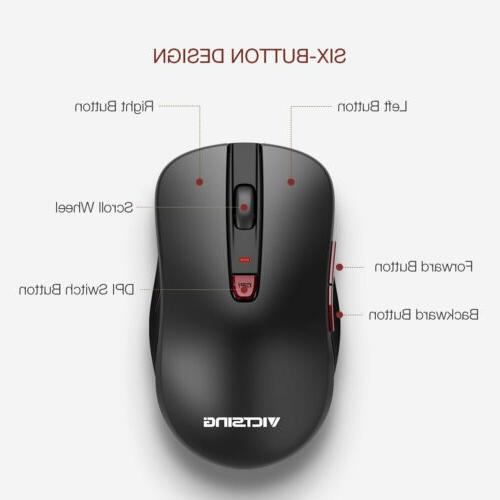 VicTsing 2400DPI Wireless 6 Buttons for Laptop