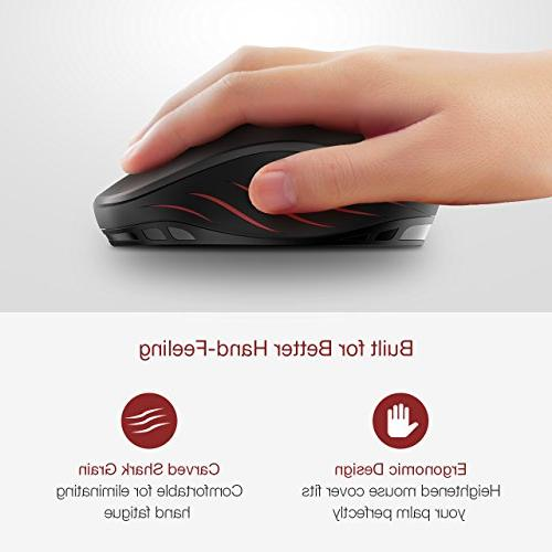 Computer Adjustable Optical Mouse Nano USB Receiver, 6 Buttons for Notebook, PC,