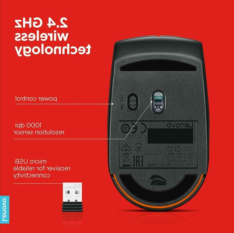 Lenovo Wireless Compact Mouse, Ultra-Portable Design,