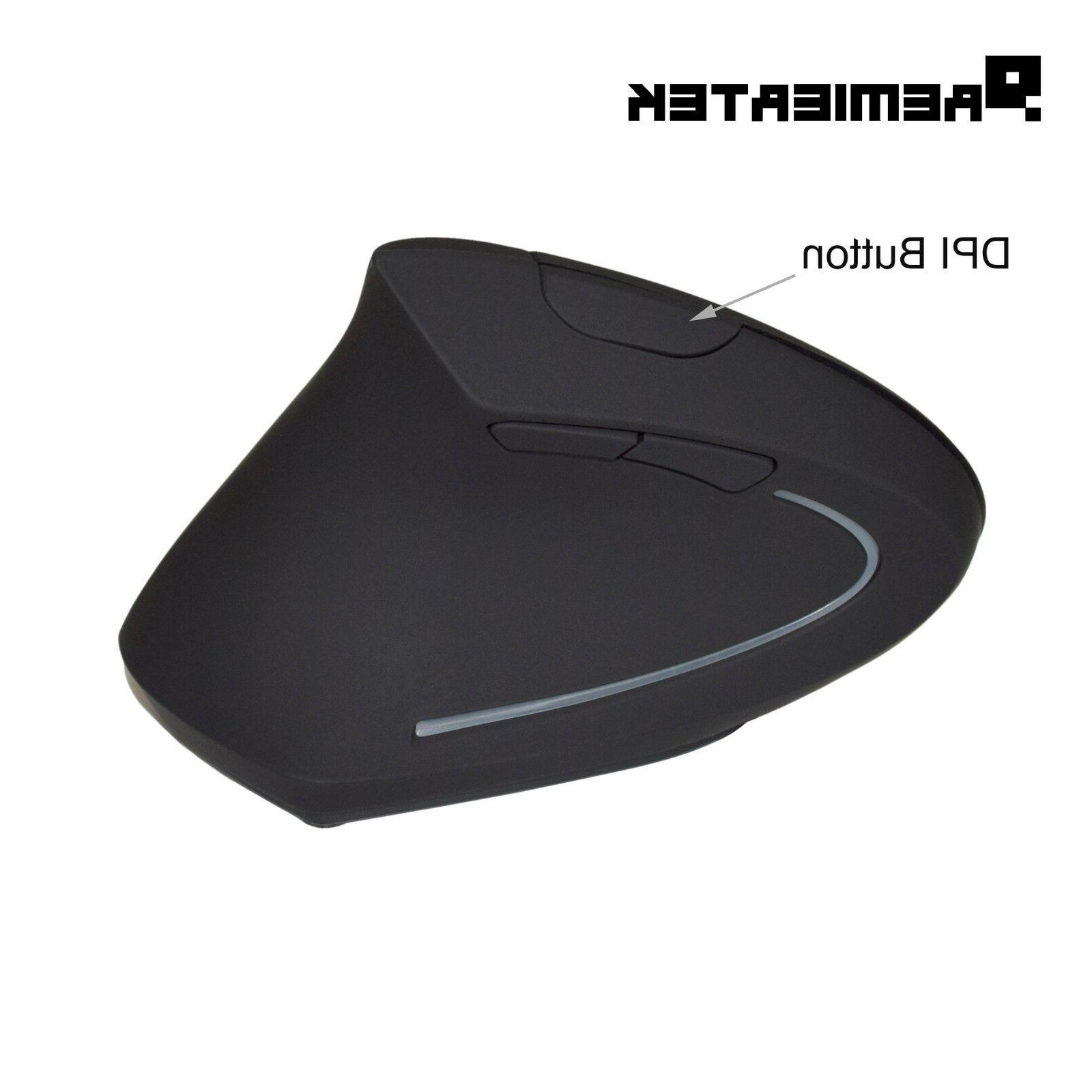 6-Button Ergonomic Optical Mouse, Rechargeable Battery