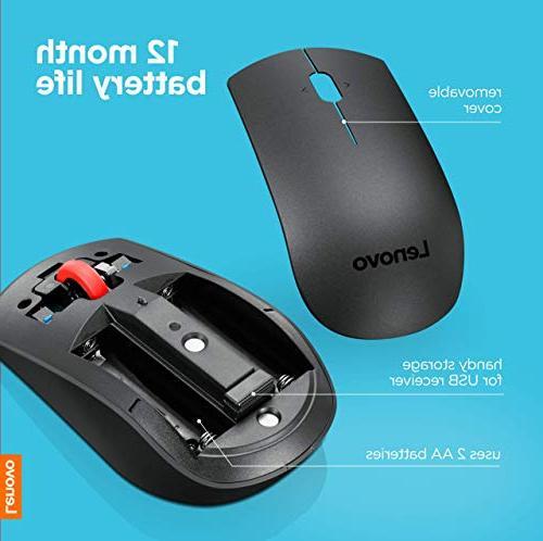 a44d5c7b835 Lenovo Wireless Laser Mouse, 1600 dpi, 2.4 via USB, 4-way Full