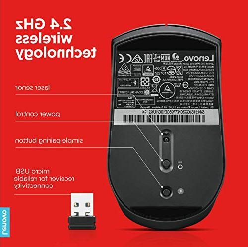 e7f3cfd05fd Lenovo 700 Mouse, 2.4 GHz wireless USB, laser 24 GX30N77980