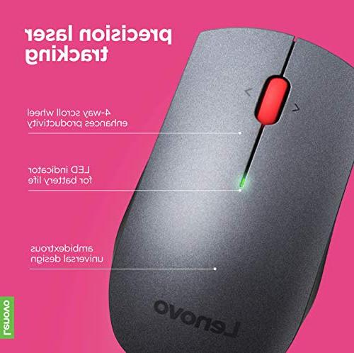 b1764fd281e Lenovo 700 Wireless Laser Mouse, 1600 dpi, 2.4 GHz USB, 4-way