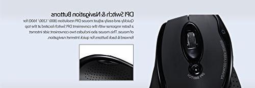 Adesso - Ergonomic Desktop Laser Mouse Keys Design Rest Battery Nano Receiver - Compatible PC & Windows XP/7/8/10