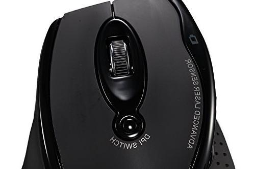 Adesso WKB-1500GB Ergonomic Laser Mouse Keys Rest Battery Nano Receiver - &