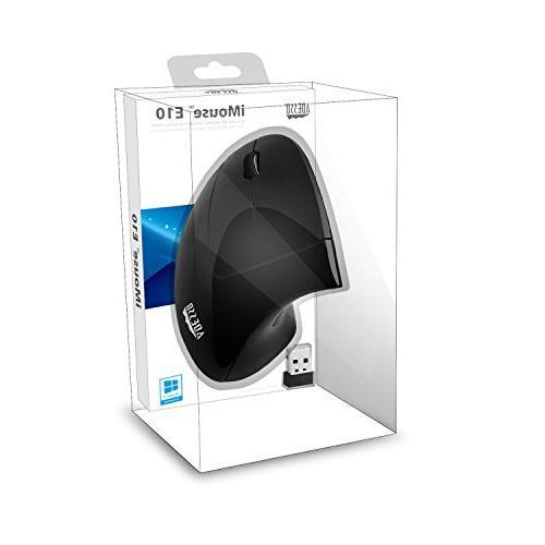 Adesso E10 - Vertical Ergonomic 2.4 RF Wireless Mouse Hand Orientation