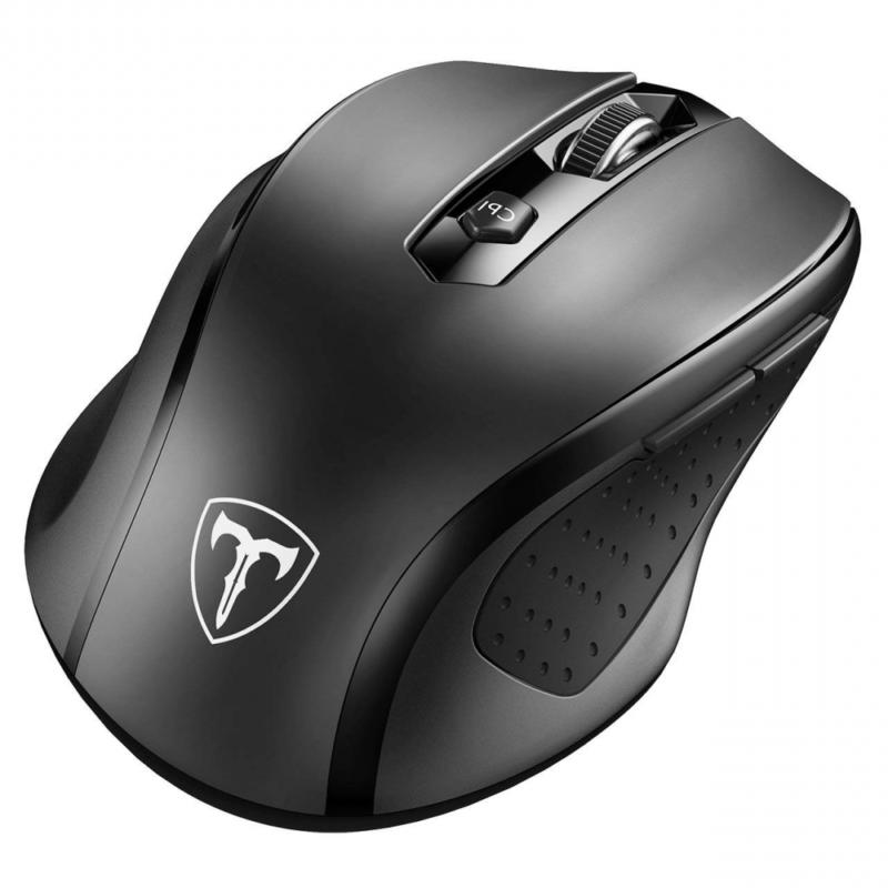 Blue VicTsing MM057 2.4G Wireless Optical Mouse with USB Rec