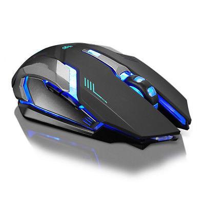 Rechargeable Wireless Silent LED Backlit USB Optical Ergonom