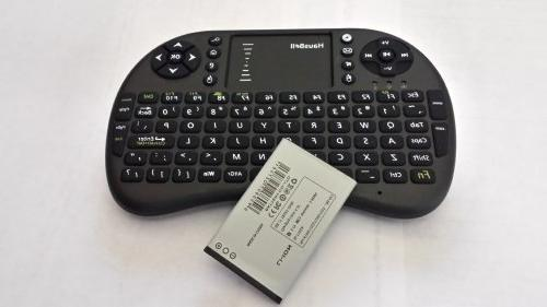 HausBell® Wireless Entertainment Keyboard with Touchpad for PC, Andriod Google TV Box, & Battery**