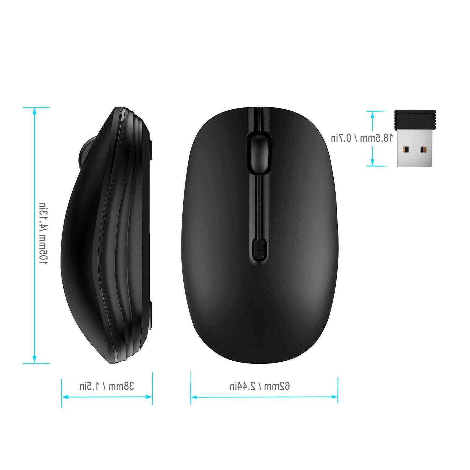 JETech 2.4Ghz Optical Mouse for Mac Tablet