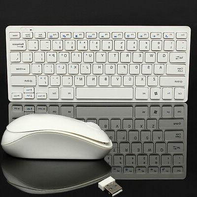 Keyboard + Wireless 2.4G Mouse Combo USB For PC Windows 7 8