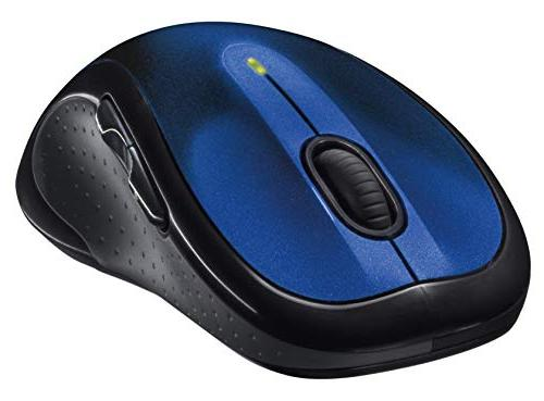 Logitech Wireless Mouse – Comfortable with USB with Back/Forward Buttons Side-to-Side Blue