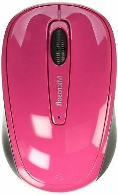 Microsoft 3500 Wireless Mobile Mouse, Magenta Pink