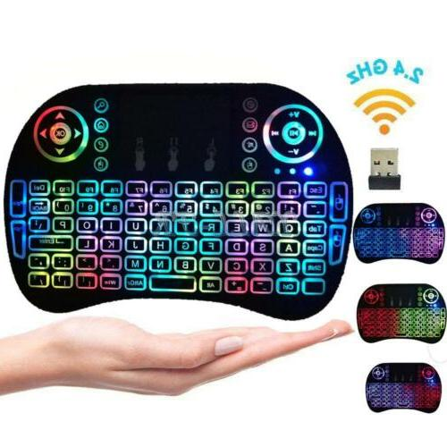 2Pcs Wireless Keyboard Fly Air Mouse Touchpad For Android Sm