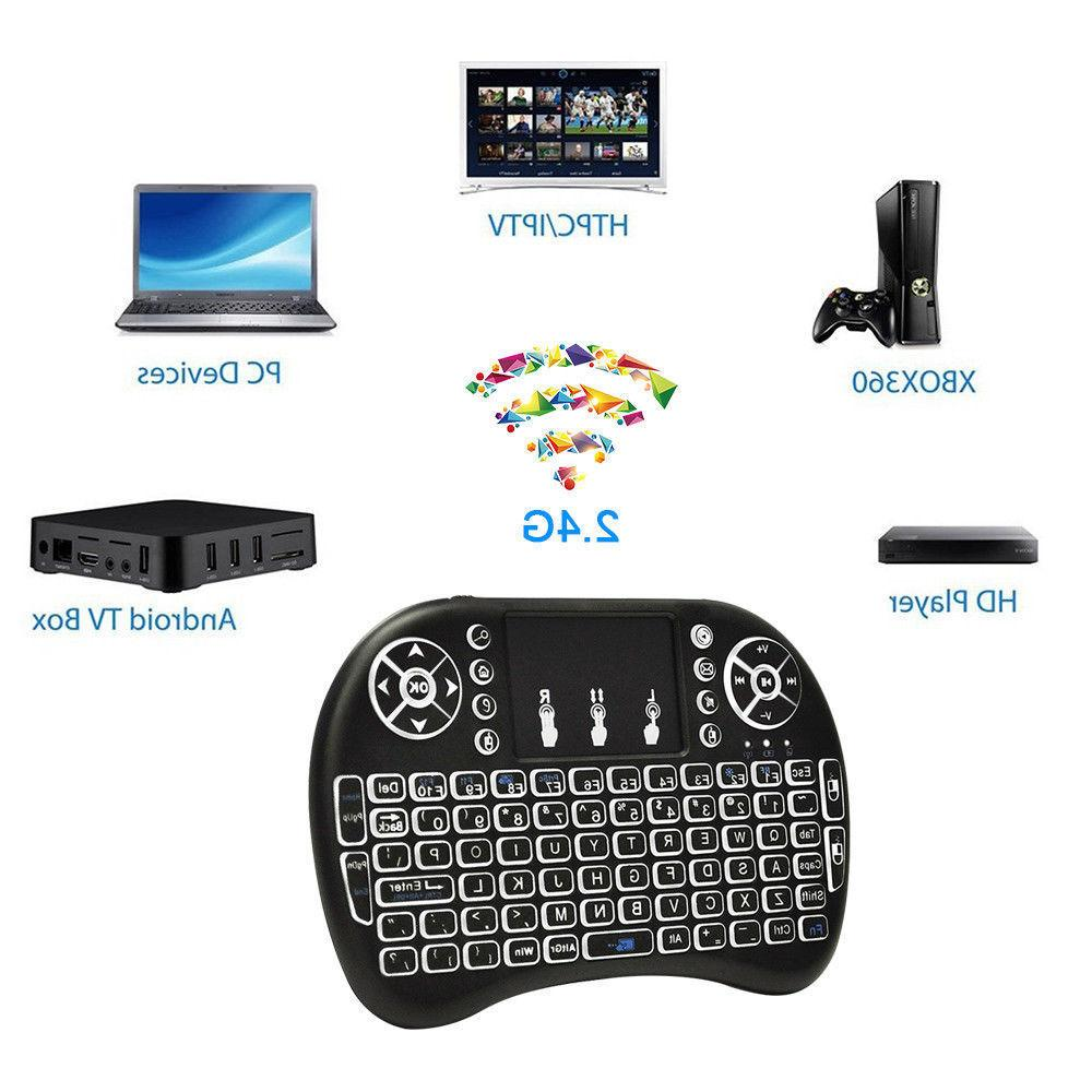 Mini Wireless Keyboard and Mouse Keypad With Touchpad For An
