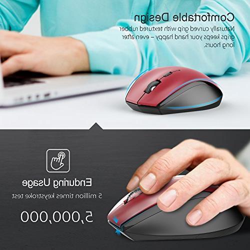 7198bd7526c TeckNet Classic Optical Wireless with USB Life,4800 Adjustment. TeckNet  Optical Mouse USB Nano ...
