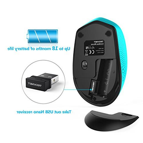 TeckNet Small 2.4G with USB Nano for Computer, Month DPI