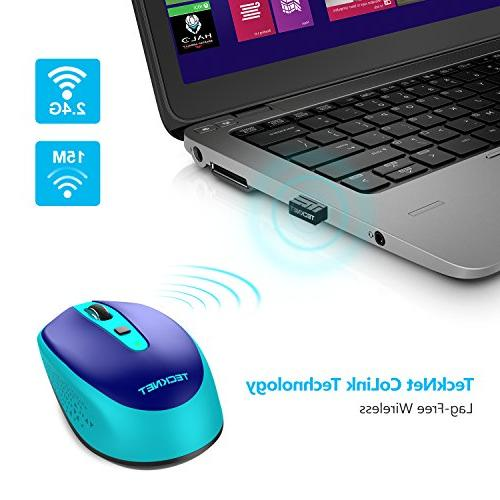 TeckNet Omni Portable 2.4G Wireless Optical with USB for Laptop 18 Month 3 Adjustable DPI