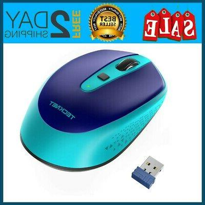 969453f3d14 TeckNet Omni Small Portable 2.4G Wireless Optical Mouse with