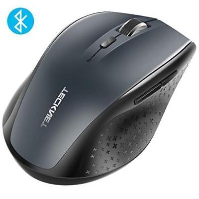 5bdffd71e0d Tecknet Bluetooth Wireless Mouse Grey Comfort US SELLER New