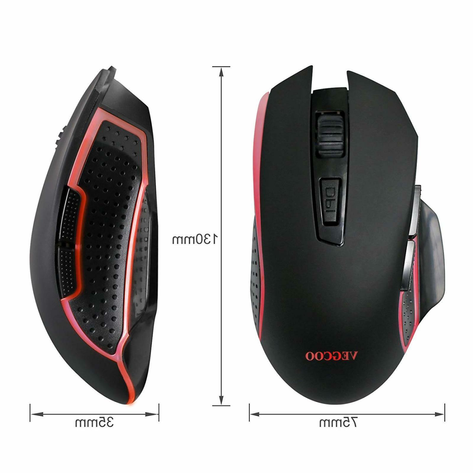 VEGCOO C7 Gaming Mouse, With Adjustable Bu
