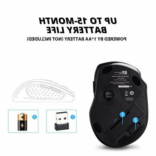 VicTsing Optical Mouse Gaming USB Receiver Mac