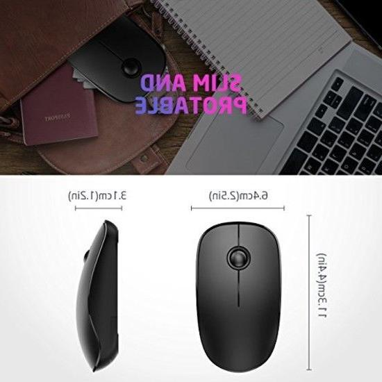 VicTsing 2.4G Slim Mouse Receiver, Noiseless Silent