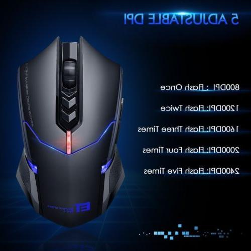 VicTsing 2.4G Wireless Gaming Mouse Mice 7 Button LED Backli