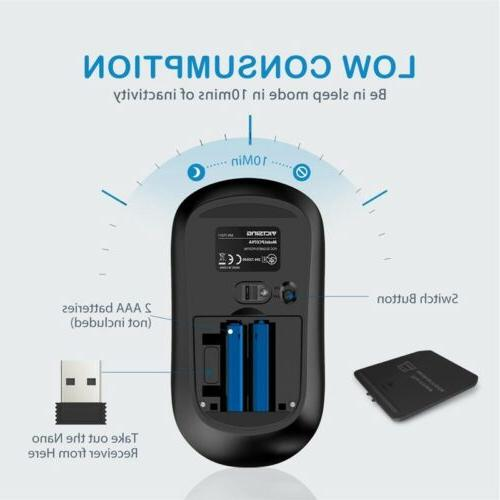 VicTsing Silent Wireless Mouse,3 CPI USB Receiver