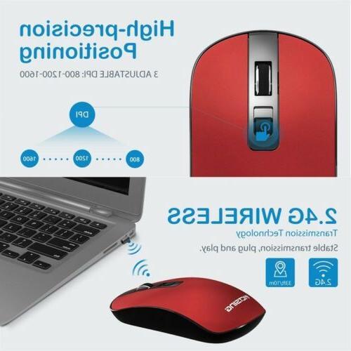 VicTsing 4-Button Wireless Mouse,3 CPI USB Nano