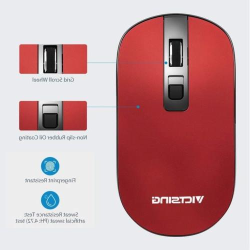 VicTsing 4-Button Slim Silent Wireless Mouse,3 Adjustable CP