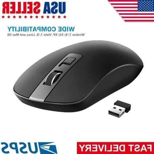 VicTsing 4-Button Slim Silent Wireless Mouse with USB Nano R