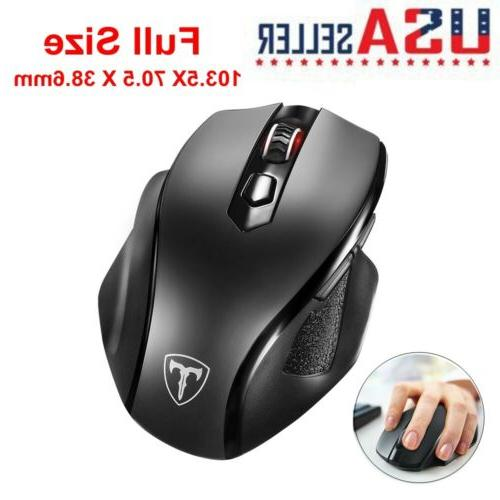 VicTsing Full Size Wireless Mouse Adjustable DPI 6 Buttons f