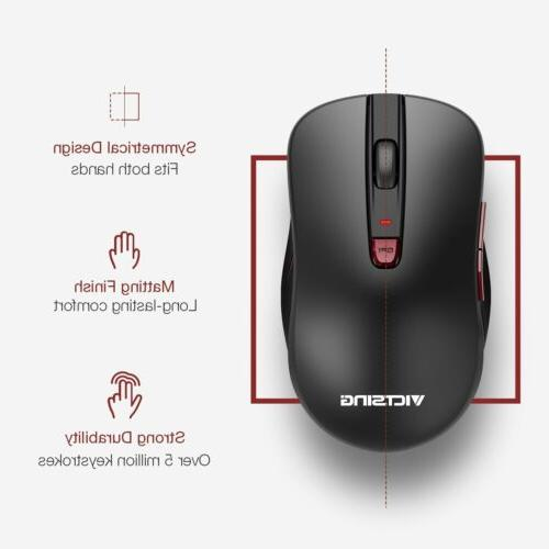 VicTsing Wireless Mouse Mice 2400DPI for PC Mac Android