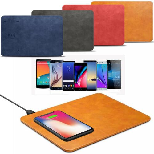 QI Wireless Charging Mouse Pad Desktop Charger For iPhone X