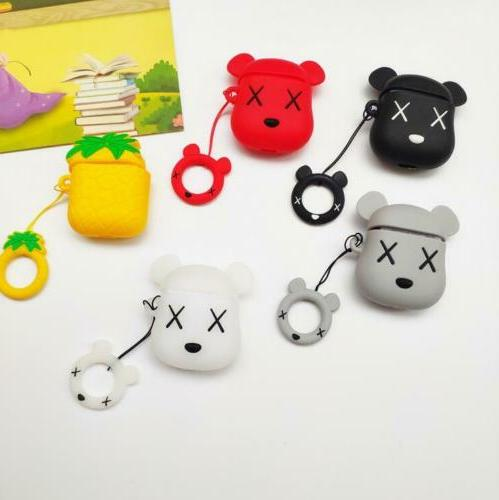 For Apple Air Pods 1 2 Wireless Bluetooth Earphone 3D Anime
