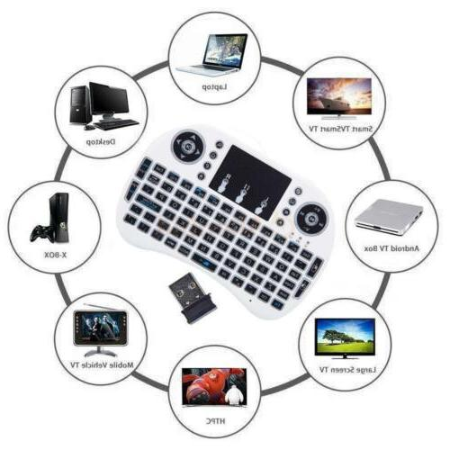 Backlight Mini Wireless Keyboard Touchpad Android i8