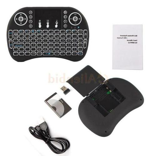 Backlight 2.4G Keyboard Mouse For Android TV Box i8