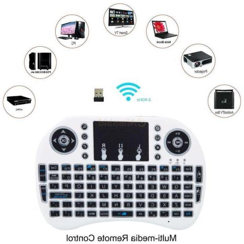Backlight Mini Keyboard Mouse Touchpad For Android Smart i8