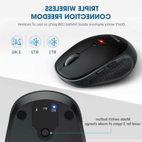 VicTsing 2400DPI Multi-Device Wireless Mouse Bluetooth 5.0&