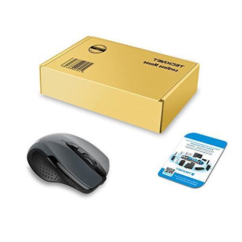 TeckNet 2600DPI Mouse, Months Life Battery 2600/2000/1600/1200/800DPI