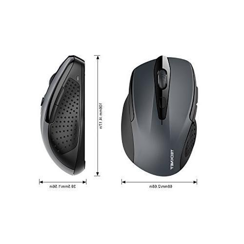 TeckNet 2600DPI Bluetooth Wireless Mouse, 24 Life 2600/2000/1600/1200/800DPI