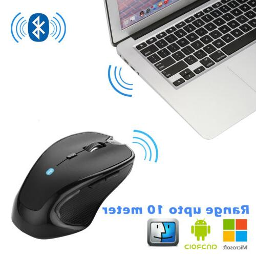 Wireless Optical Mice Bluetooth Mouse 2400dpi for PC Mac And