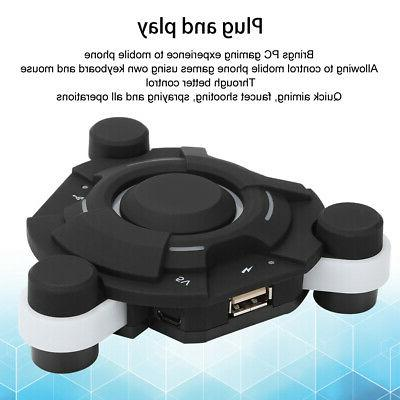 Bluetooth5.0 Gaming Keyboard Mouse Converter Adapter USB For