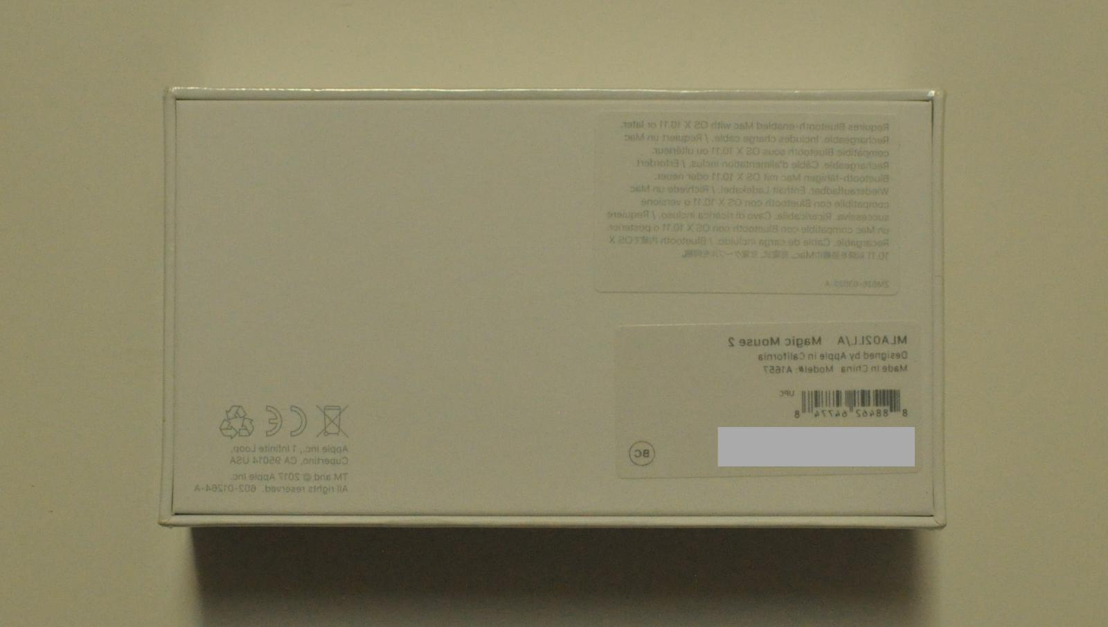 Apple Mouse A1657 Rechargeable
