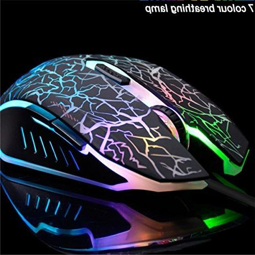 VEGCOO C10 Mouse Rechargeable Silent Mice Lights,